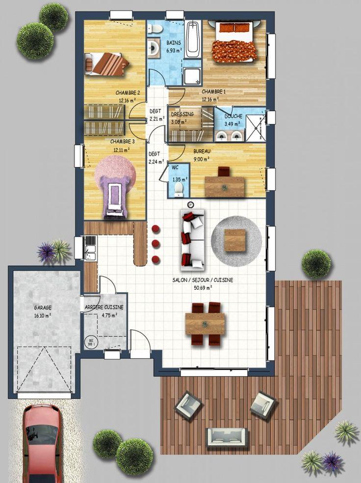 23 best images about plans maison on Pinterest - plan maison  plain pied