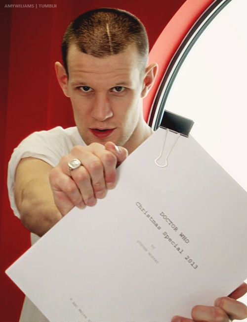 Matt Smith at Christmas Special read through - September 4, 2013. Aw man, I can't even handle this! :(