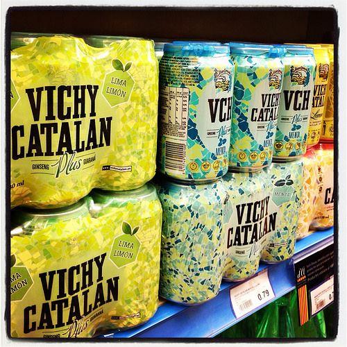 Vichy Catalán en lata, en un supermercado Sorli Discau de Barcelona