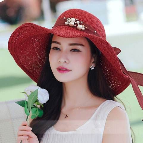FLoppy wide brim sun hat with bow for women package summer hats