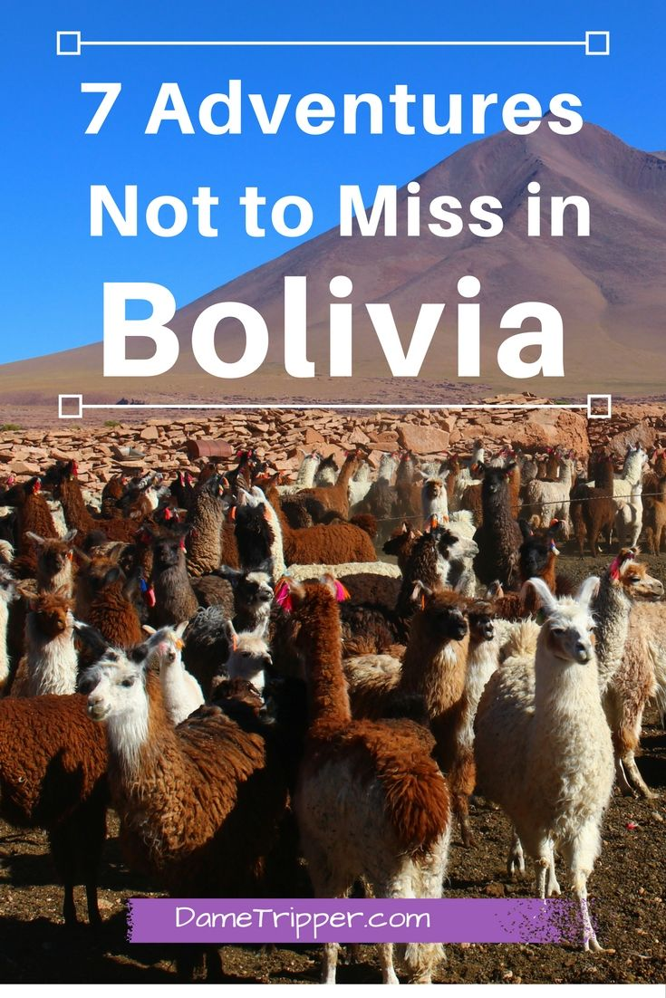 Bolivia is an incredible place to visit, and has more than just the Salt Flats! Here's an idea of some adventures you can have in this amazing country.