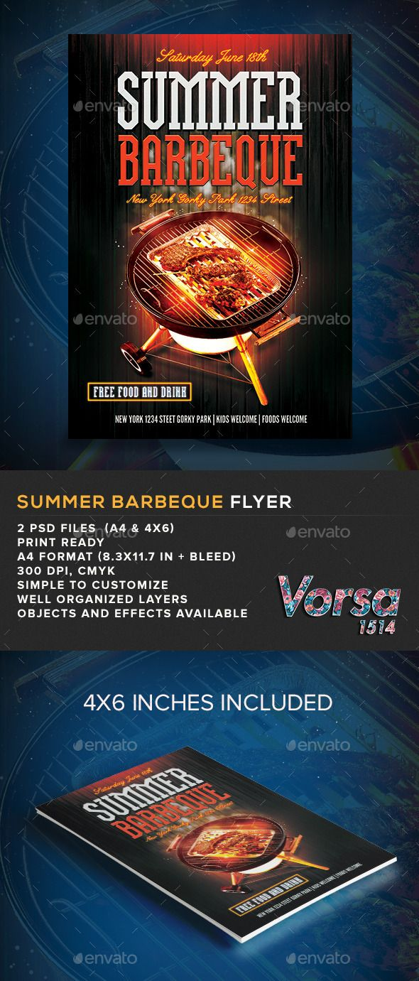 Summer Barbeque Flyer - Holidays Events