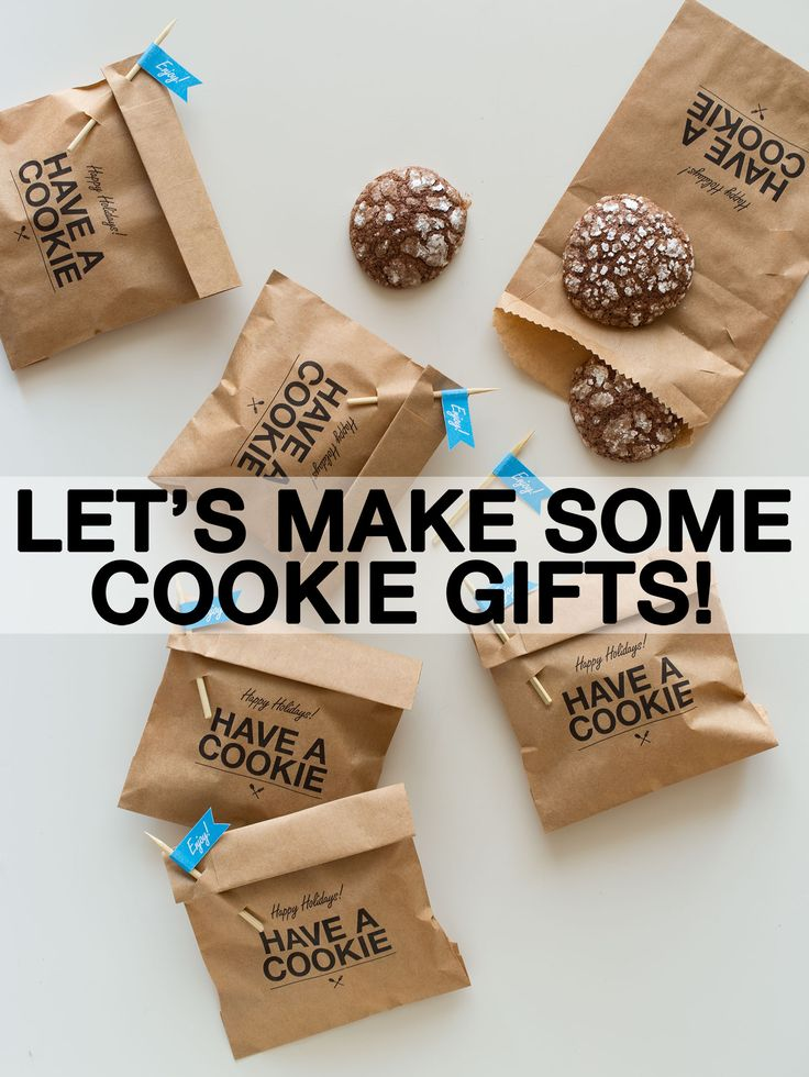 Let's make some cookie gifts!