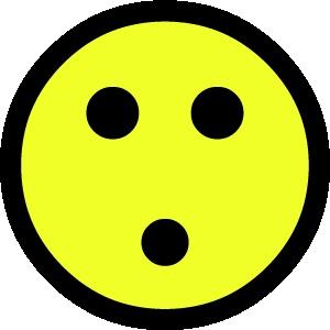 smiley 1 verbaasd 1 FC sticker