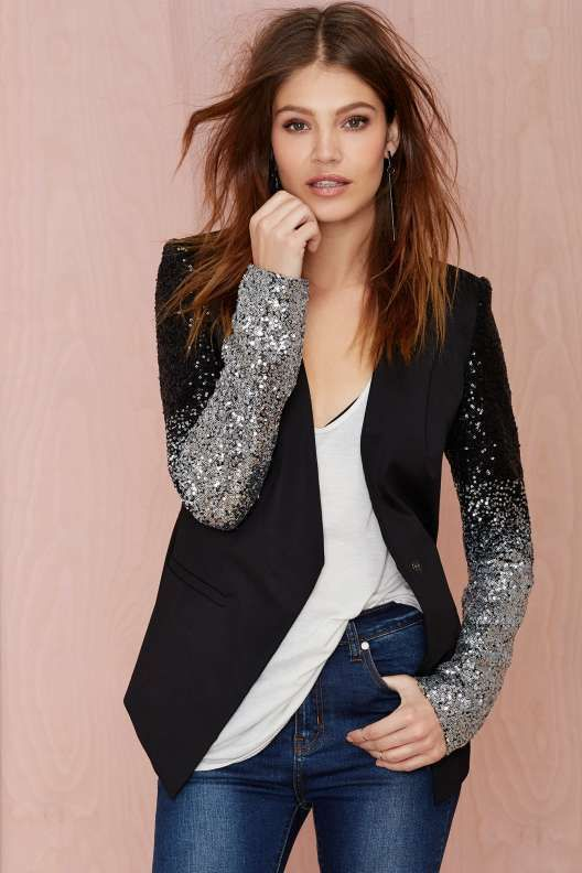 Hand Dipped in Frosting {Nasty Gal Cold Hard Flash Blazer}