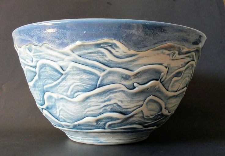 Big blue muddy bowl