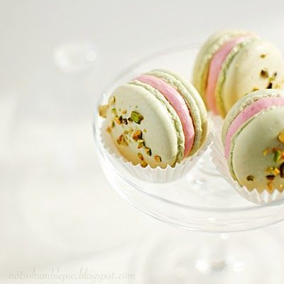 Italian macaron.  pistachio with cherry brandy filling!