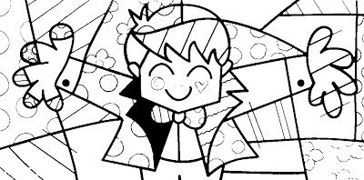 Desenhos de Romero Brito para você trabalhar a sua peça. Veja mais na publicação do blog.
