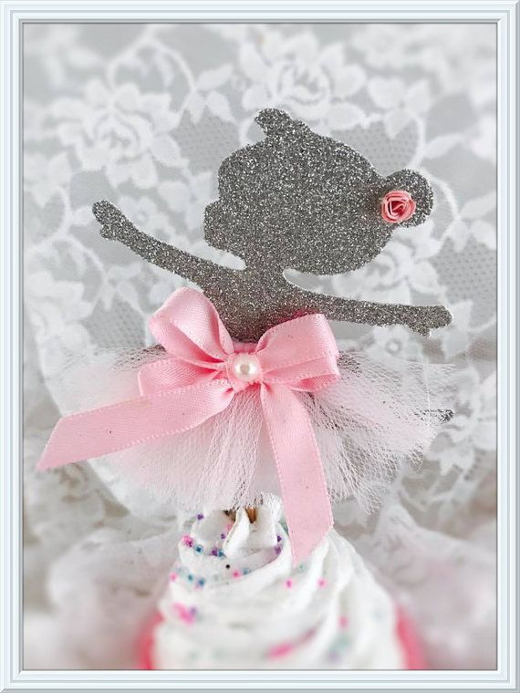 266 best cake toppers cupcake toppers images on for Ballerina decoration