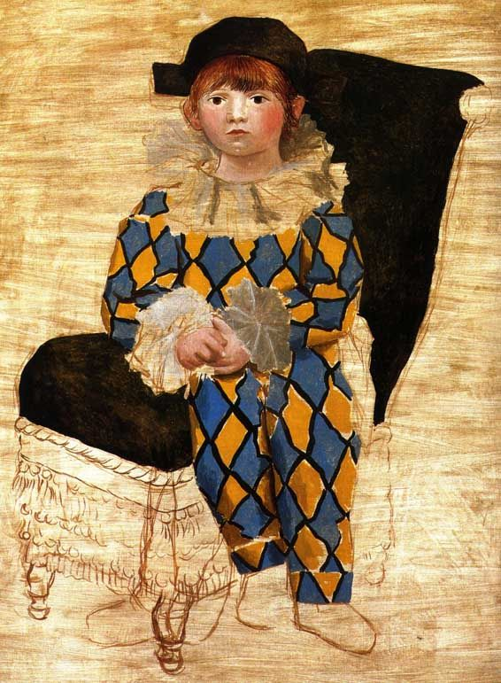 Paulo, Picasso's Son, as Pierrot - Pablo Picasso (Spanish)