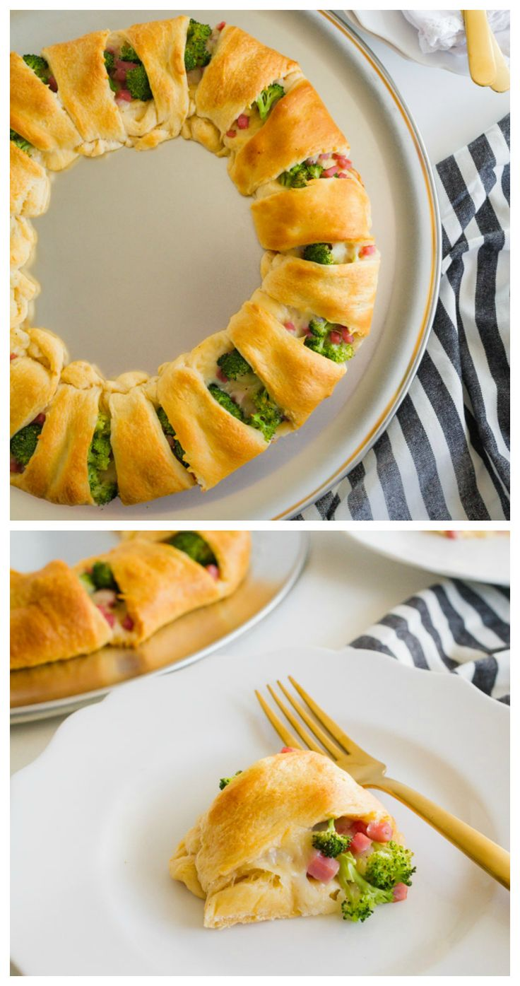 Ham and Broccoli Ring | Delicious appetizer filled with ham, broccoli and cheese! You'll love it. AD
