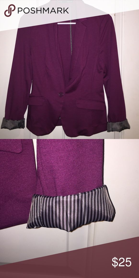 Purple blazer! Very cute and professional looking blazer. I wore it once for a job interview and got the job! And it's good luck :) Maurices Jackets & Coats Blazers