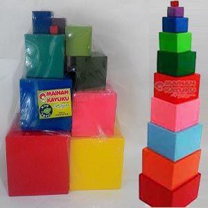 Rainbow Tower adalah mainan kayu edukatif warna warni susun yang terdiri dari 10 balok kubus dengan ukuran mulai dari 1 cm - 10 cm. Dengan mainan kayu ini anak dapat bermain sekaligus belajar untuk mengenal warna, bentuk dan melatih kemampuan dan keseimbangan dalam menyusun. APE PAUD TK ini cocok dijadikan sebagai mainan edukasi metode montessori untuk anak usia dini 1-5 tahun.