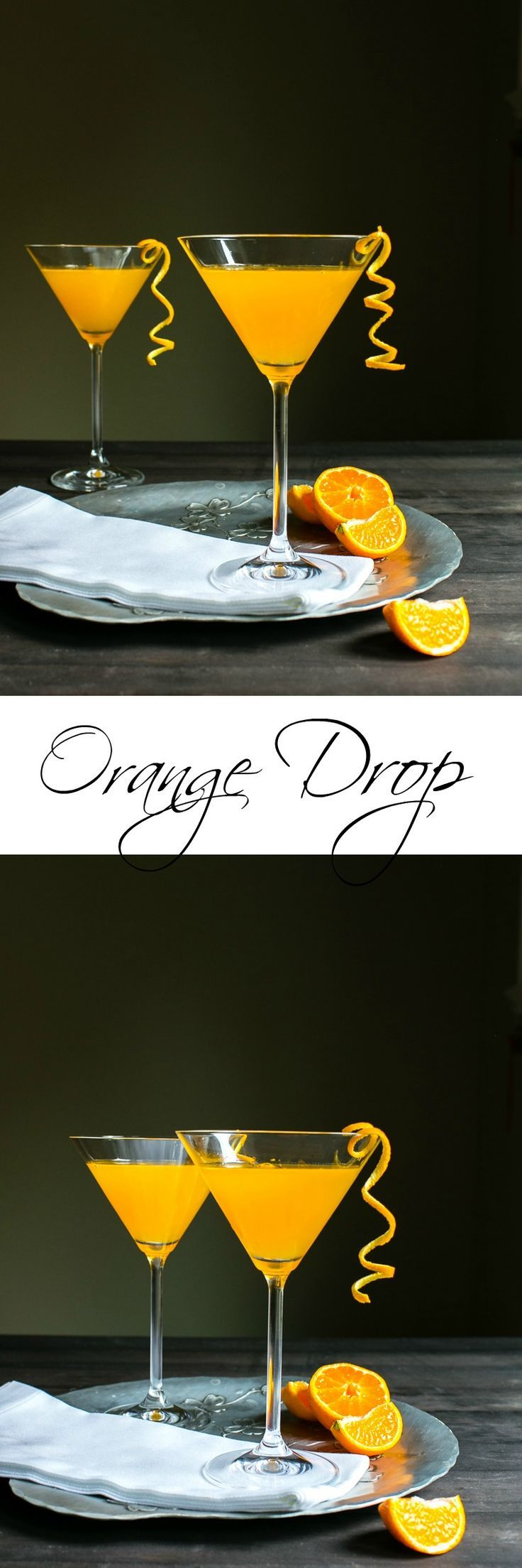 The three ingredient, fresh squeezed cocktail: Orange Drop | #CocktailREcipe #Recipe #Fresh #Happyhour