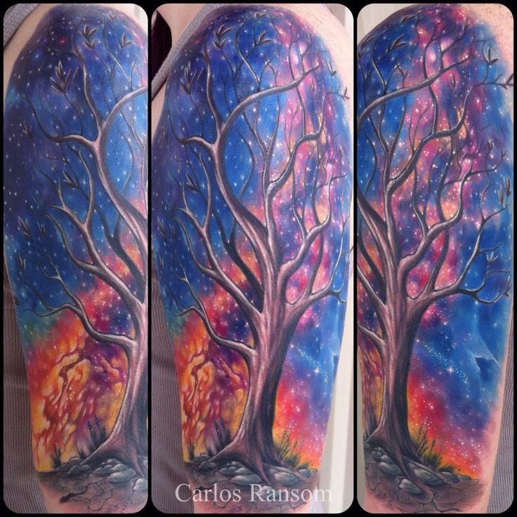milky way galaxy tattoo sleeve - photo #21
