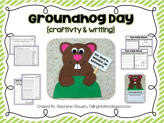 groundhog day writing paper Groundhog day printable materials are color and black and white, and include writing paper, board games, powerpoints, writing prompts, songs, reading comps.