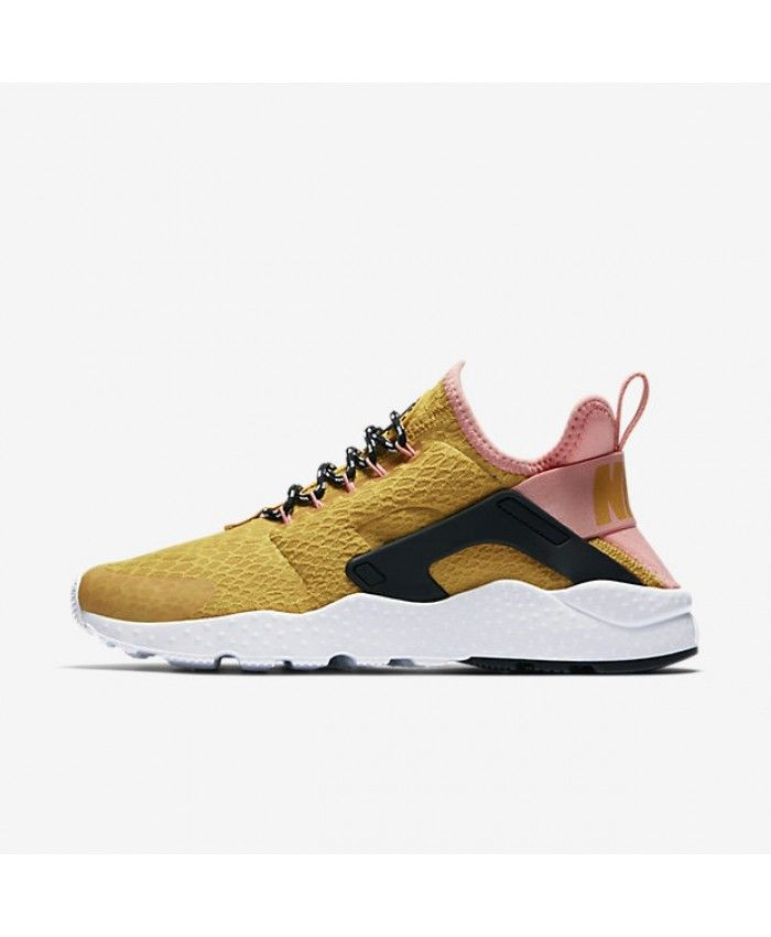 quality design 4cf16 f248f Cheap Nike Air Huarache Womens Ultra Se Gold Dart Bright Melon Black