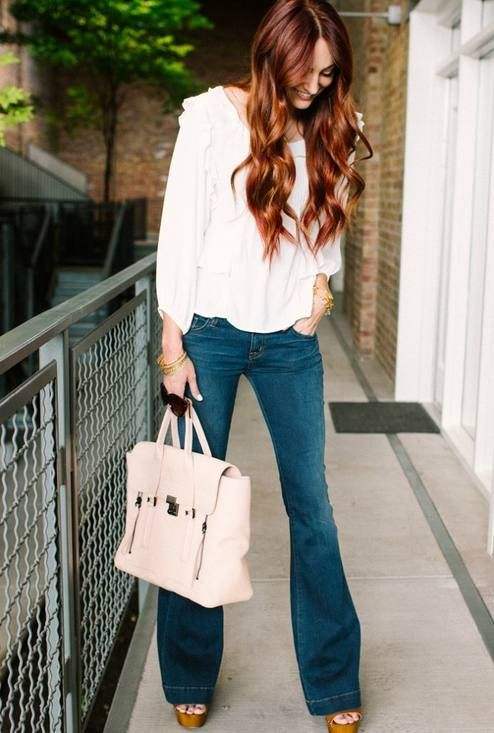 Best 25+ Bootleg Jeans Ideas On Pinterest | Bootleg Jeans Outfit Outfits With Bootcut Jeans And ...