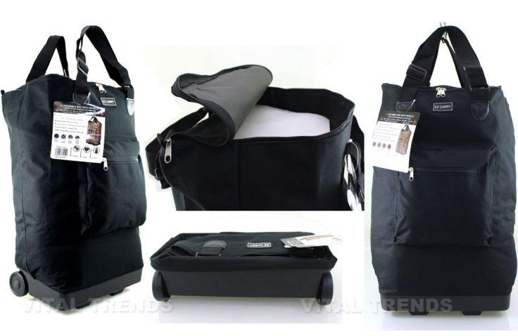 Light Weight Folding 2 Wheel Shopping Trolley luggage Weekend Cabin Bag Case New