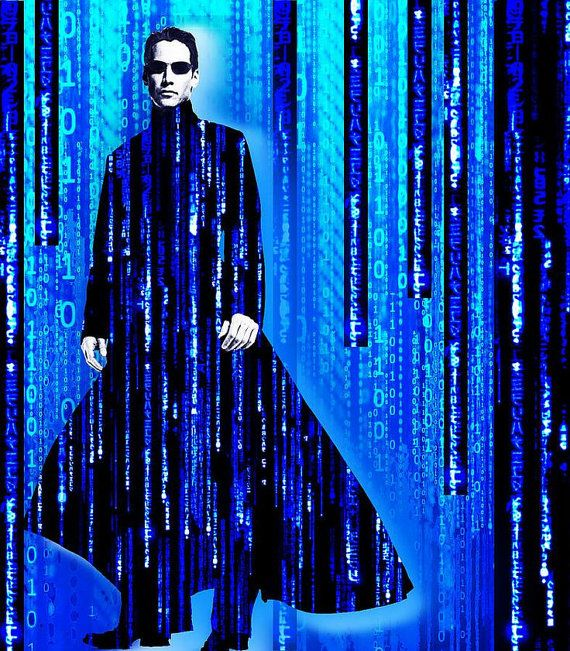 Matrix Neo Keanu Reeves 2 Giclee Print by RubinoFineArt on Etsy