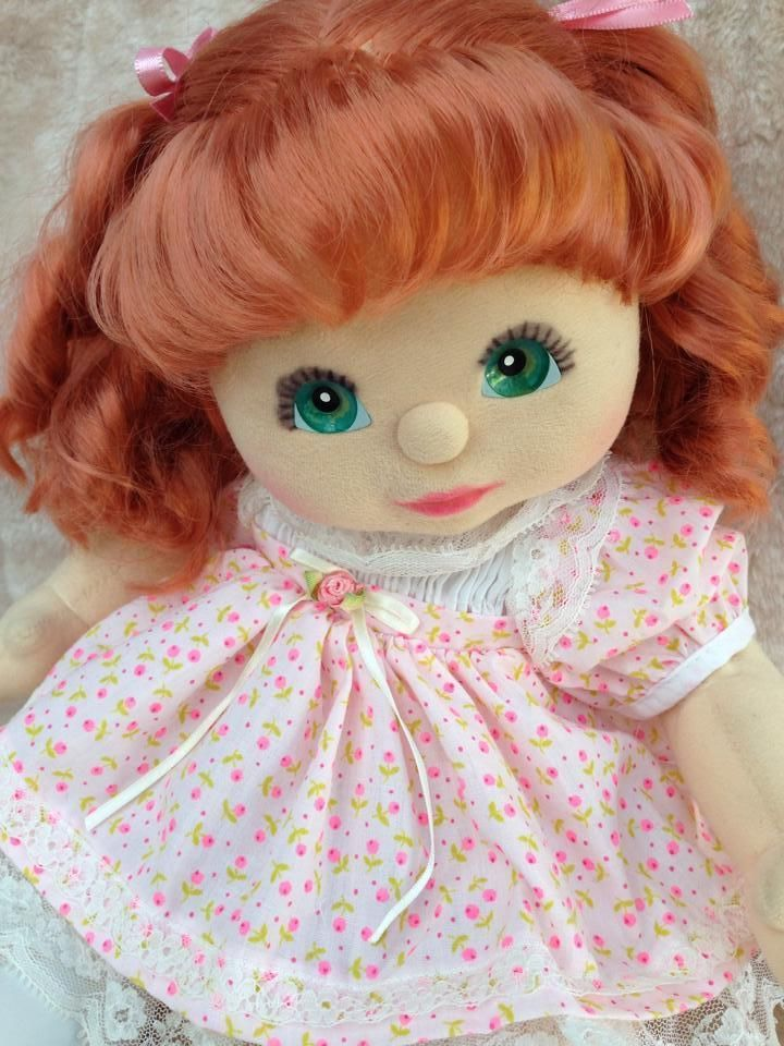 My Child Doll Red Ringlet Aussie/Euro Aqua Charcoal Minty