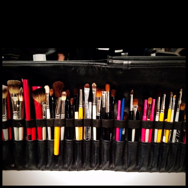 Brushes backstage at Charlotte Ronson