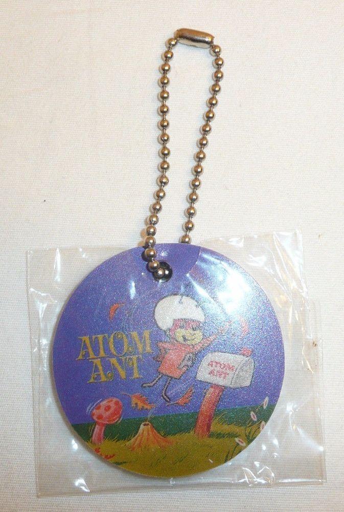 Atom Ant Round Foam Keychain Hanna Barbera Cartoon Character Mail Box Key Chain