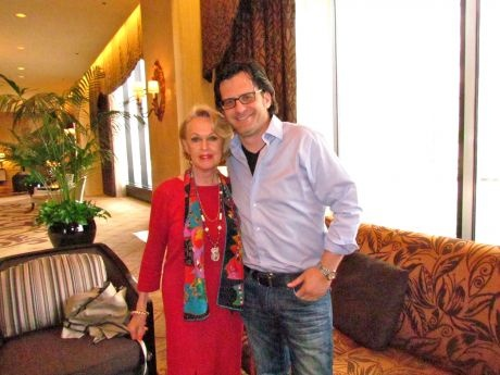 """Tippi Hedren, star of """"The Birds,"""" and Ben Mankiewicz, host of """"Turner Classic Movies."""""""