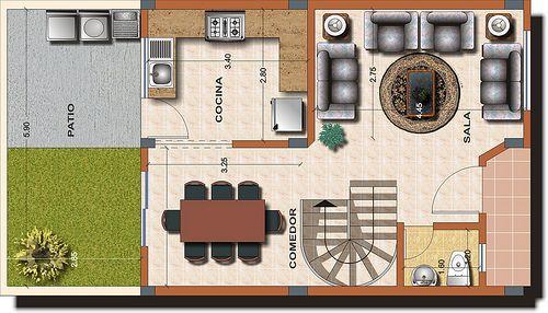 Casa tipo B - Planta 1 | Alexina 1 - Distribuciones renderiz… | Flickr