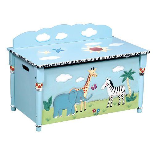 Guidecraft Safari Toy Box
