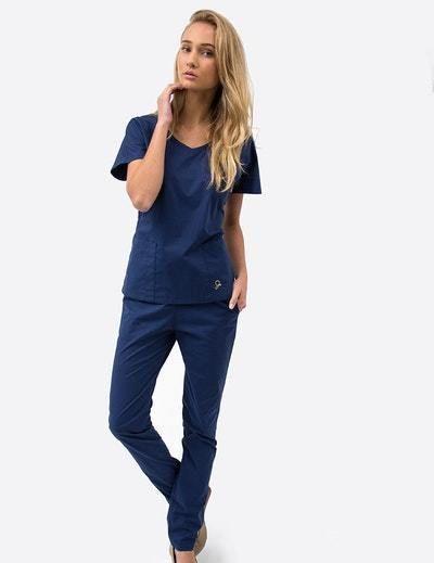 7cbd7039b35441 Jaanuu Dolman Scrub Top in Estate Navy Blue NWOT SIZE S  fashion  clothing