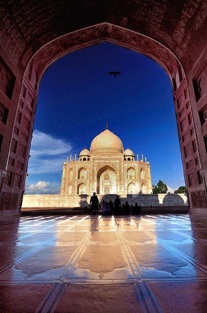 Inde Taj Mahal  Ville Agra : Mausol� de la femme de l'empereur Shan Jahan , une des 7 merveilles du monde.