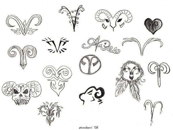 33 Best Girly Aries Tattoos Images On Pinterest Aries Symbol