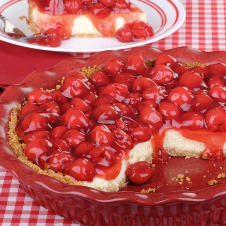 A delicious baked cherry cheesecake recipe