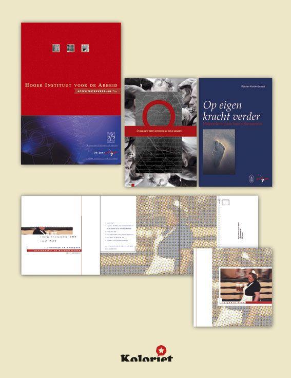 """Brochures en jaarverslag ontwerp """"Hiva"""" door Koloriet - Danni Elskens"""
