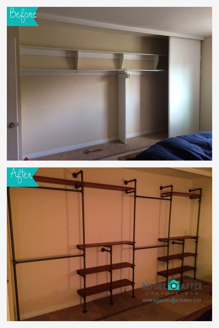 DIY Pipe Closet - Before & After Camera - The Ultimate Before & After Photo App - Instantly Create Still And Animated Before & After Photos Without A Tripod Or Editing Software