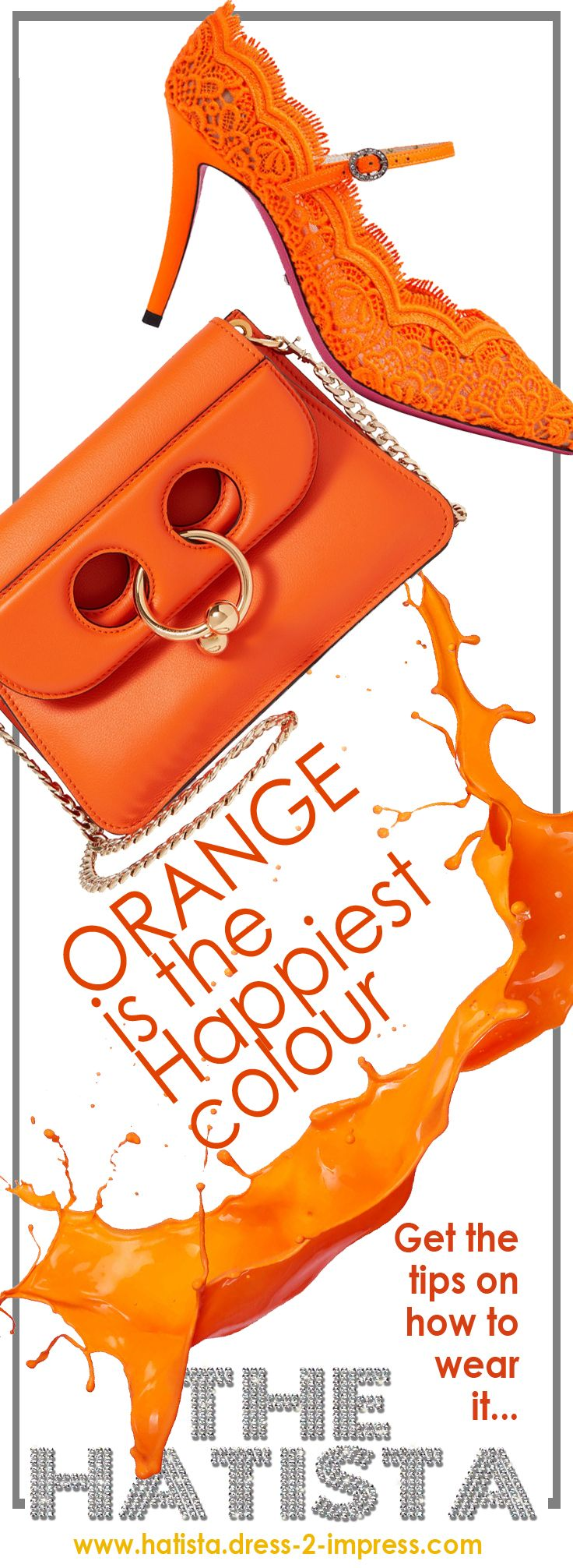 Orange is exuberant, energizing, invigorating, enthusiastic + joyous - so why, when it comes to wearing it, does it stop so many of us in our tracks? Read Hatista outfit ideas, inspiration + style tips on how to Wear Orange Hues. Fashion ideas for Fun + flamboyant orange that radiate warmth + energy. Orange is very versatile, and has a shade for all seasons, either accent or background colour. Spring, Summer, Autumn, Winter outfits. #ontheblog #blog #wearorange #orange #blogger #fashion…