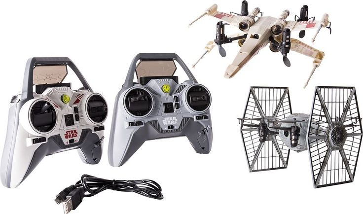 Air Hogs - Star Wars X-wing Starfighter Drone and TIE Fighter Drone - Multi