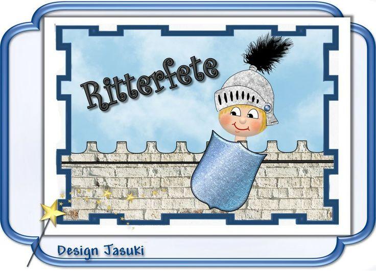 Einladungskarte Kindergeburtstag Ritter   **_Einladungskarte  Kindergeburtstag Im Postkartenformat Mit Weißem Umschlag, Motiv Ritter.