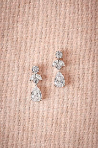 Crystal Petite Crystal Drop Earrings | BHLDN