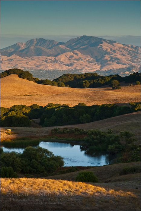 Mount Diablo from Briones Regional Park, Contra Costa, California by Gary Crabbe