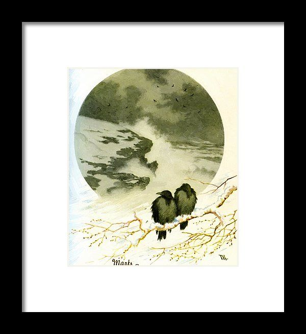 March Framed Print featuring the painting March 1890 by Kittelsen Theodor Severin