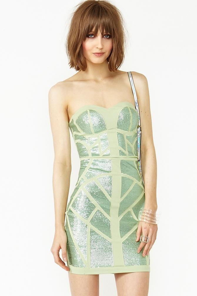 Sequin Maze Dress