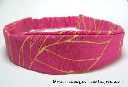 MammA GiochiaMo?: Cucito creativo: fascia per capelli fai da te per bambina