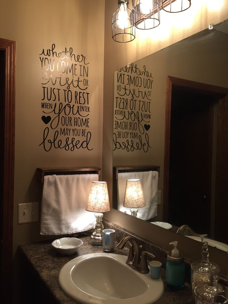 Guest bathroom with essentials displayed as functional for Bathroom decor essentials