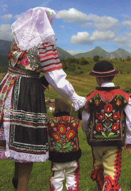 People from village Zdiar in the Goral folk-costumes
