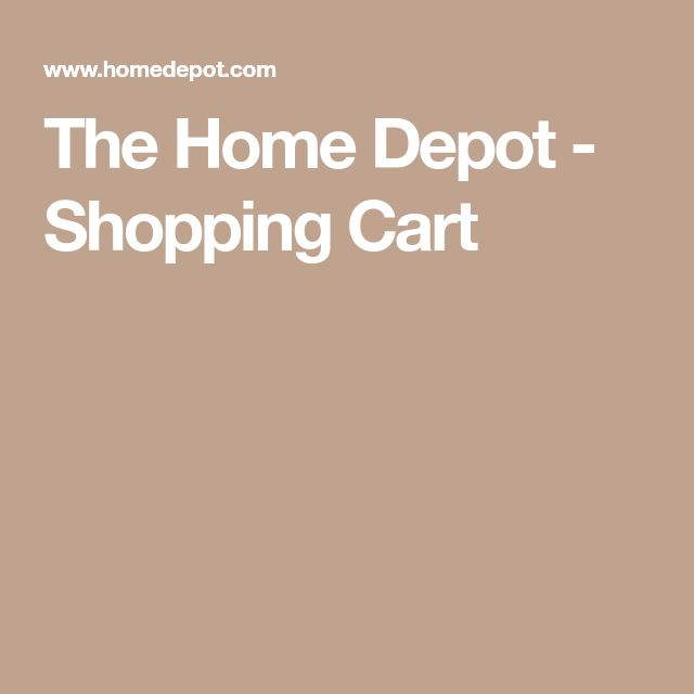 The Home Depot - Shopping Cart