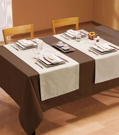 mantel de mesa simil de lino