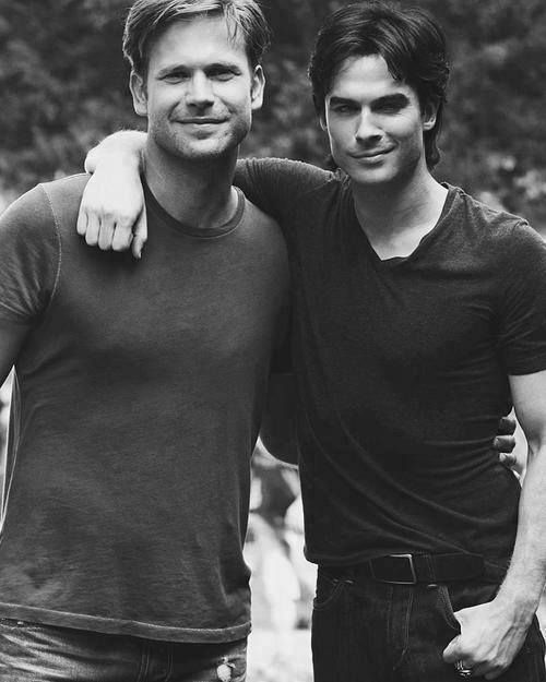 Matthew Davis and Ian Somerhalder