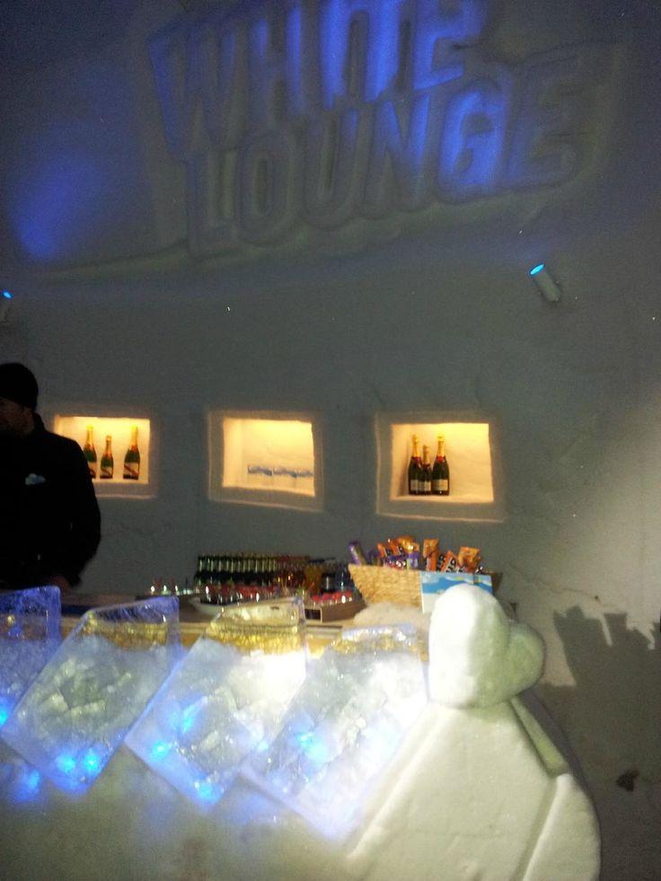 White Lounge (igloo ice bar) - Mayrhofen, Austria